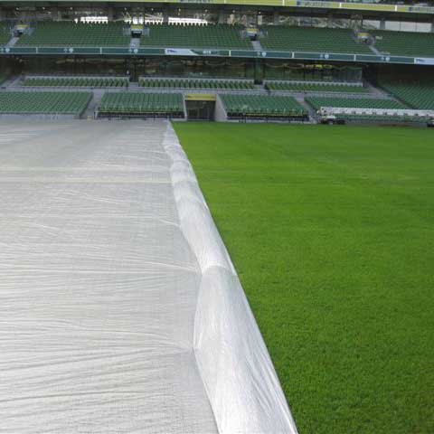 Evergreen Turf Cover im Stadion